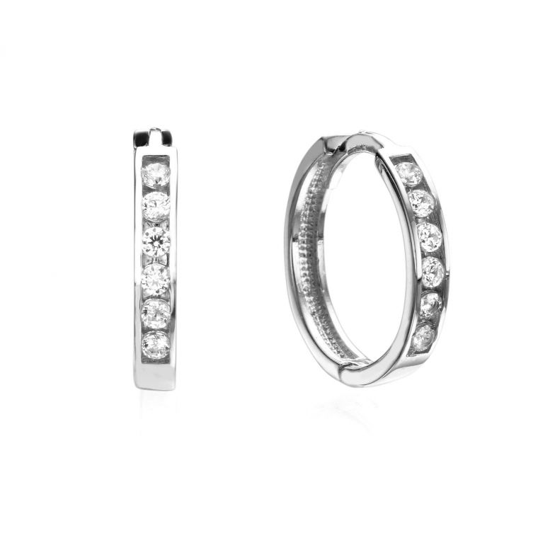 Huggie White Gold Earrings - Torino