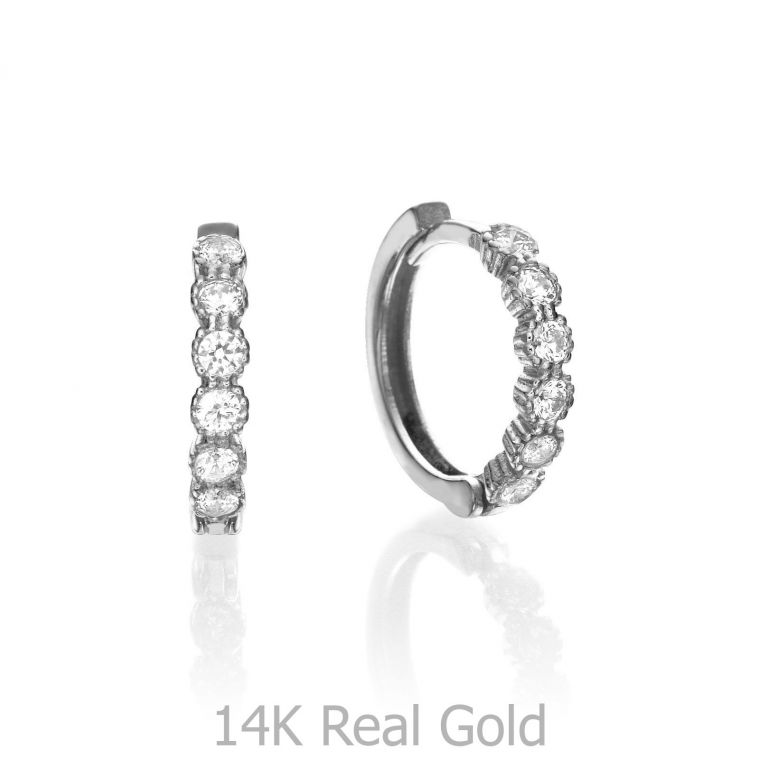Huggie White Gold Earrings - Brilliant Flair