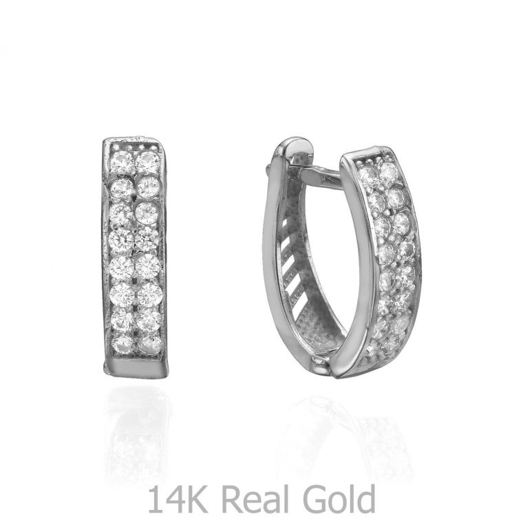 Huggie White Gold Earrings - Hollywood