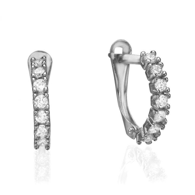 Drop White Gold Earrings - Nina