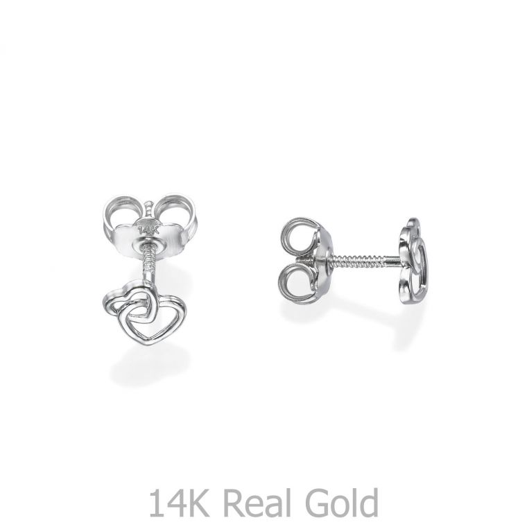 Gold Stud Earrings -  United Hearts