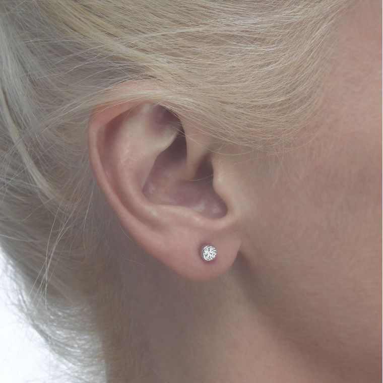 Gold Stud Earrings -  Circle of Splendor - Small