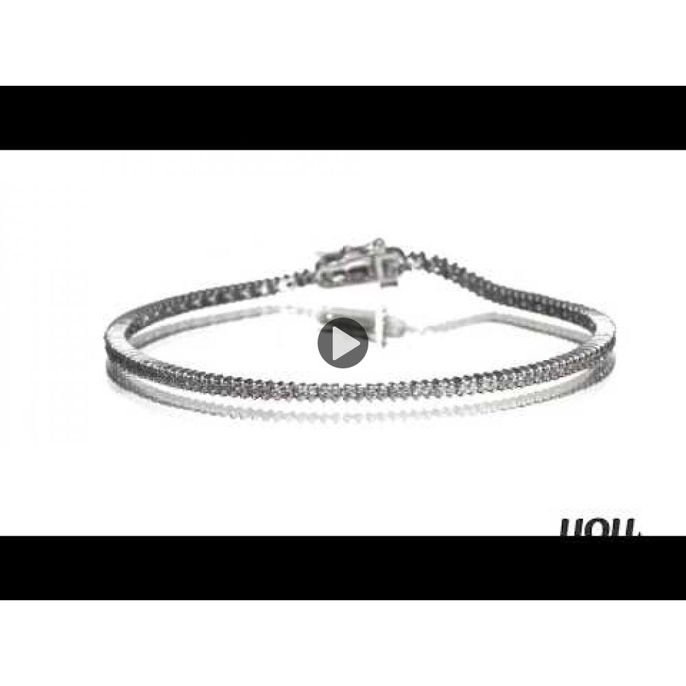 Diamond Jewelry | Diamond Tennis Bracelet in 14K White Gold - Elizabeth