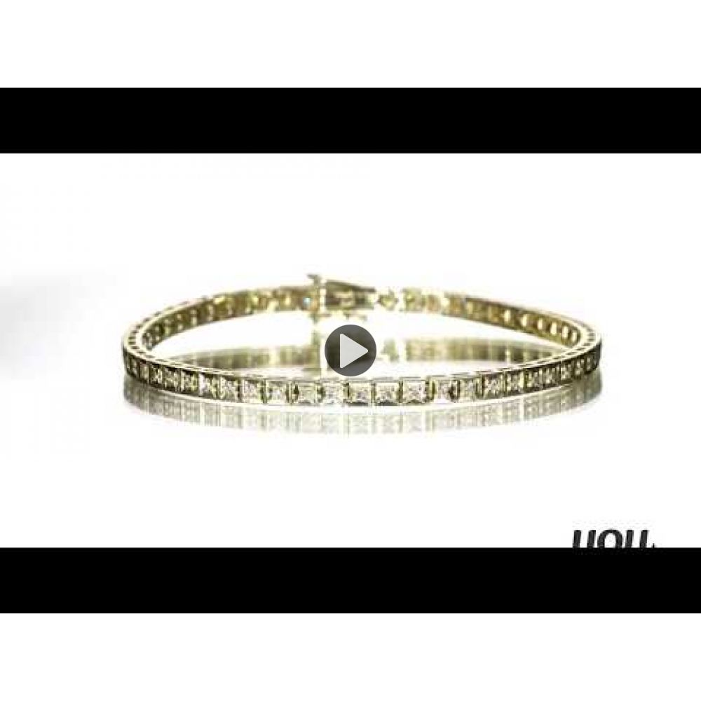 Diamond Jewelry | Diamond Tennis Bracelet in 14K Yellow Gold - Jennifer